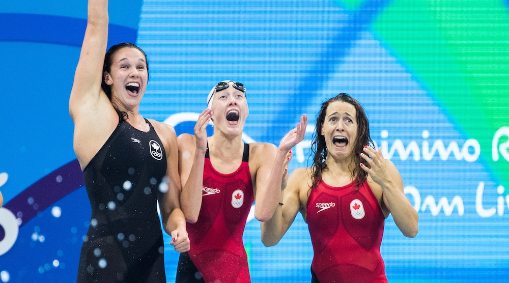 Canada wins first medal at Rio 2016 Olympics, bronze in women's 4x100 m swimming relay