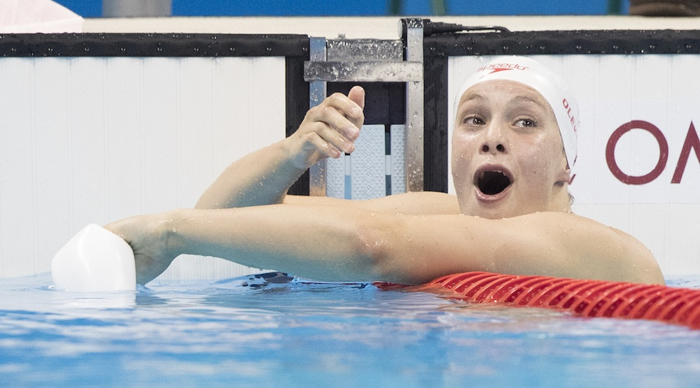 16-year-old Penny Oleksiak wins Canada's first silver medal at Rio 2016 Olympics