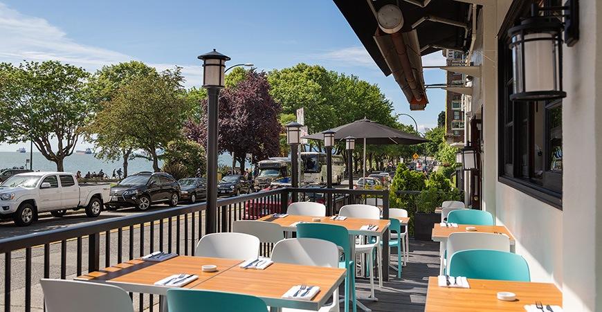 Beach bay cafe vancouver patio