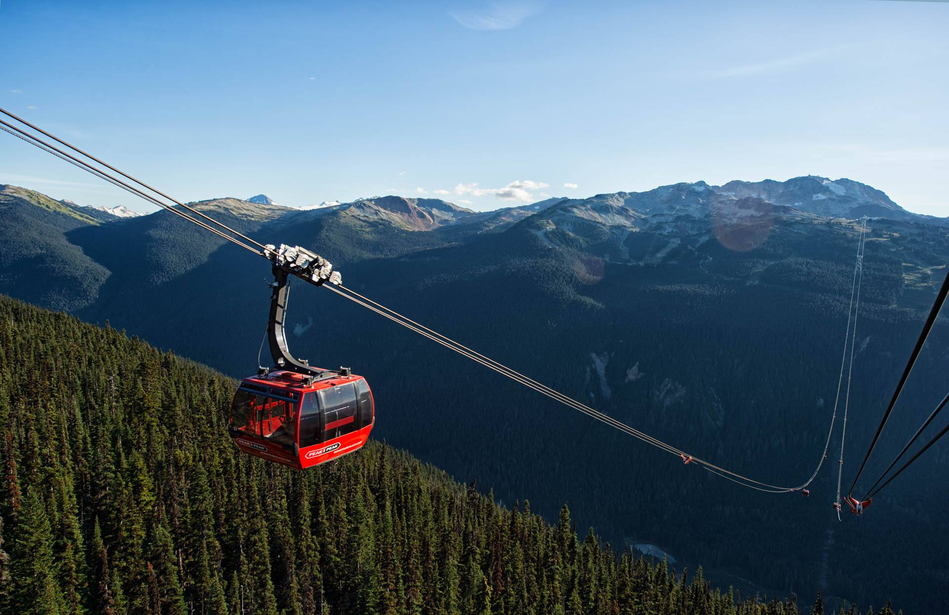 The Peak 2 Peak Gondola between Whistler and Blackcomb mountains (Whistler Blackcomb)