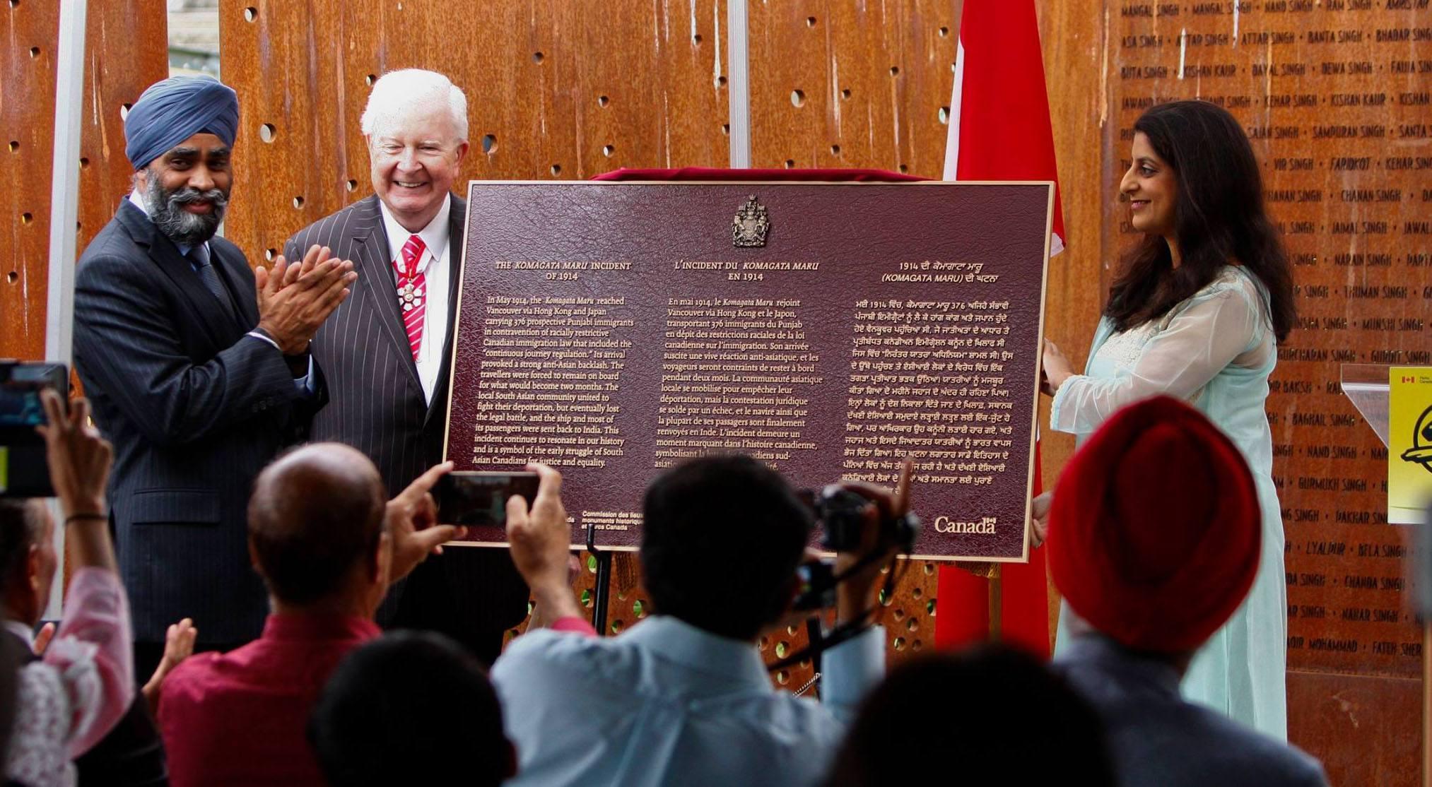 The new komagata maru plaque unveiled by defence minister harjit sajjan in vancouver harjit sajjanfacebook