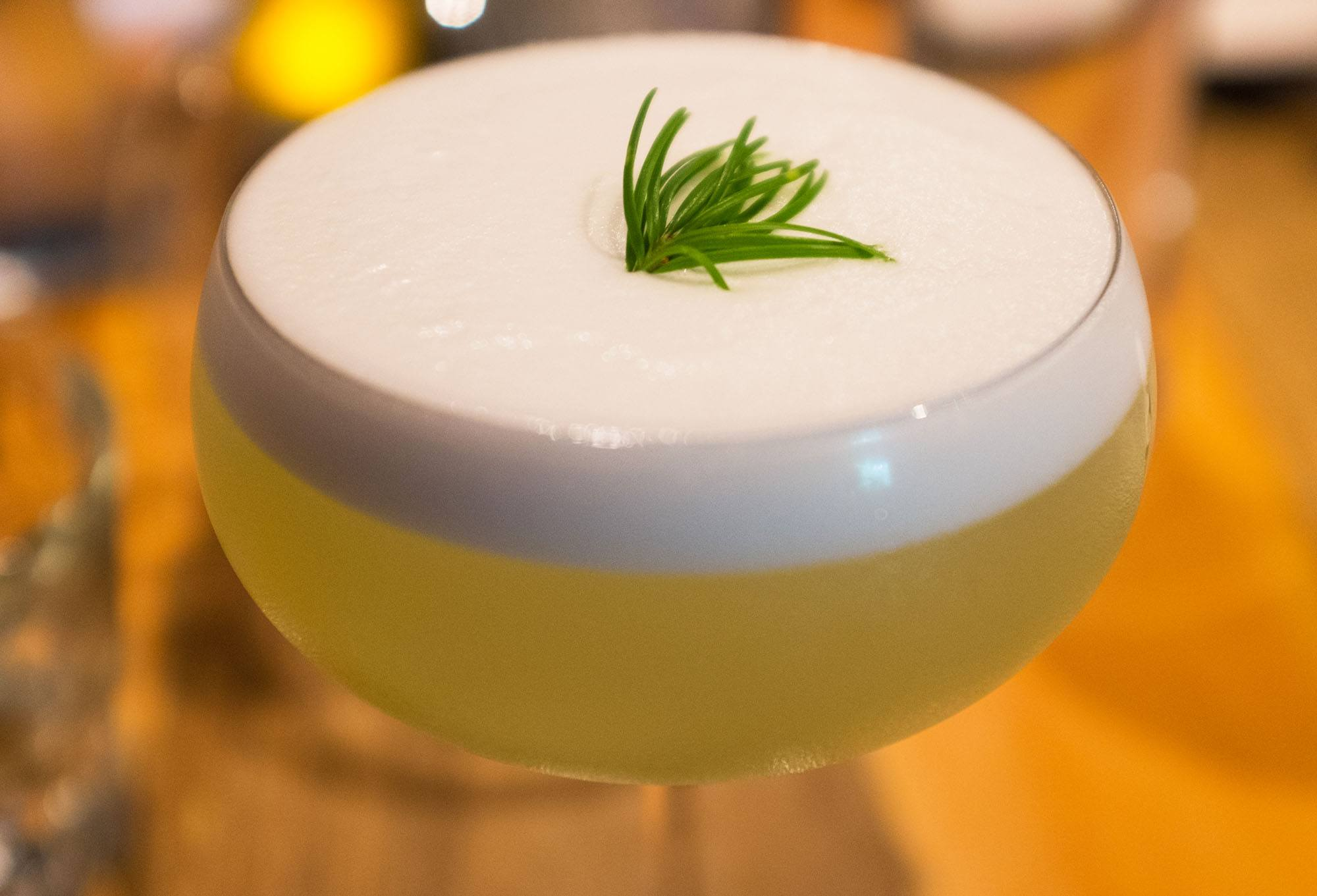 Douglas Fir Sour cocktail at Alta Bistro (Conrad Olson)