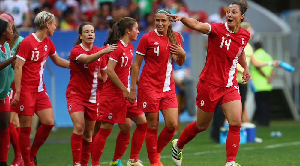 Canada earns historic victory over Germany in women's soccer at Rio 2016 Olympics