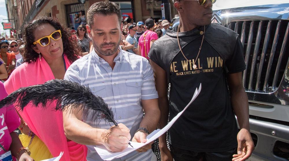 Mathieu chantelois toronto pride black lives matter
