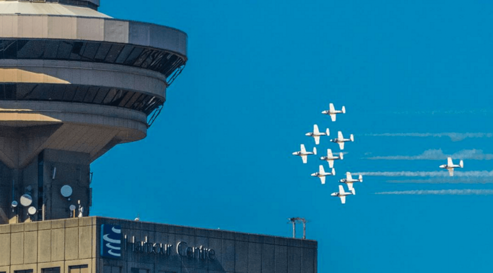 RCAF Snowbirds perform Vancouver flyover (PHOTOS, VIDEO)