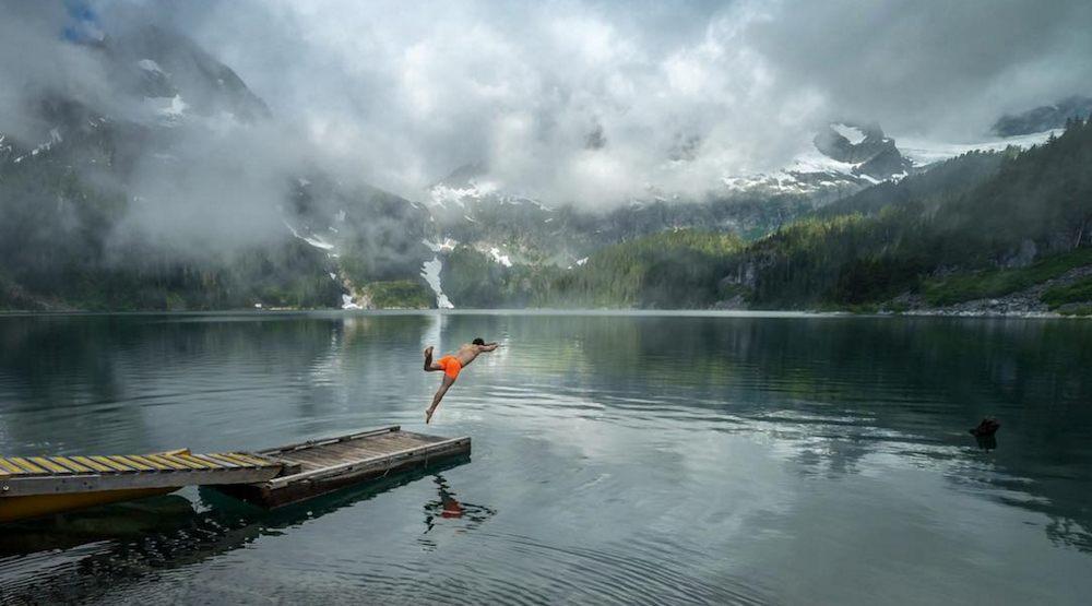 Lovely water lake british columbia