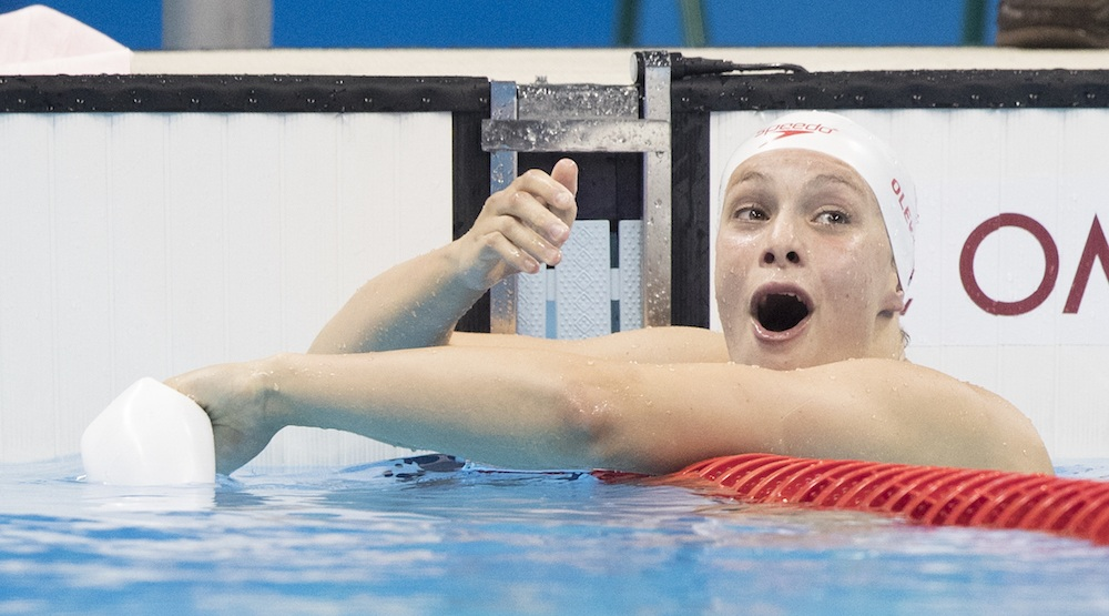 Landslide victory: Penny Oleksiak named Canadian female athlete of the year