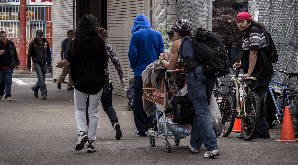 Common scene in the downtown eastside of vancouver shutterstock