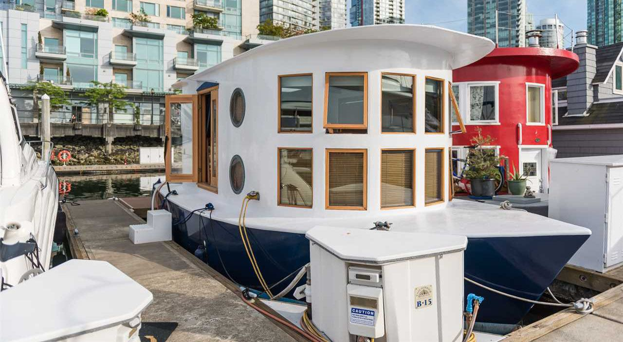 This tiny home float home is for sale in coal harbour engel vo%cc%88lkers