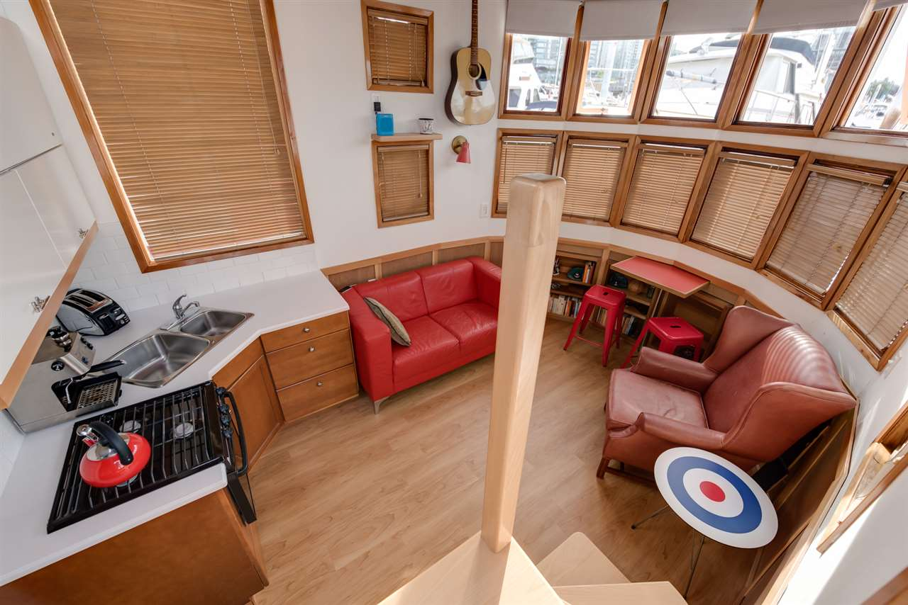 Inside the tiny float home for sale in coal harbour engel vo%cc%88lkers 3