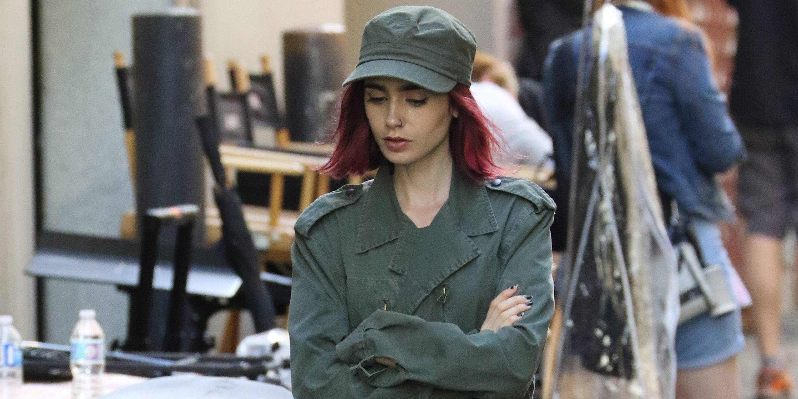 Lily Collins and Paul Dano film Okja in Vancouver (PHOTOS)