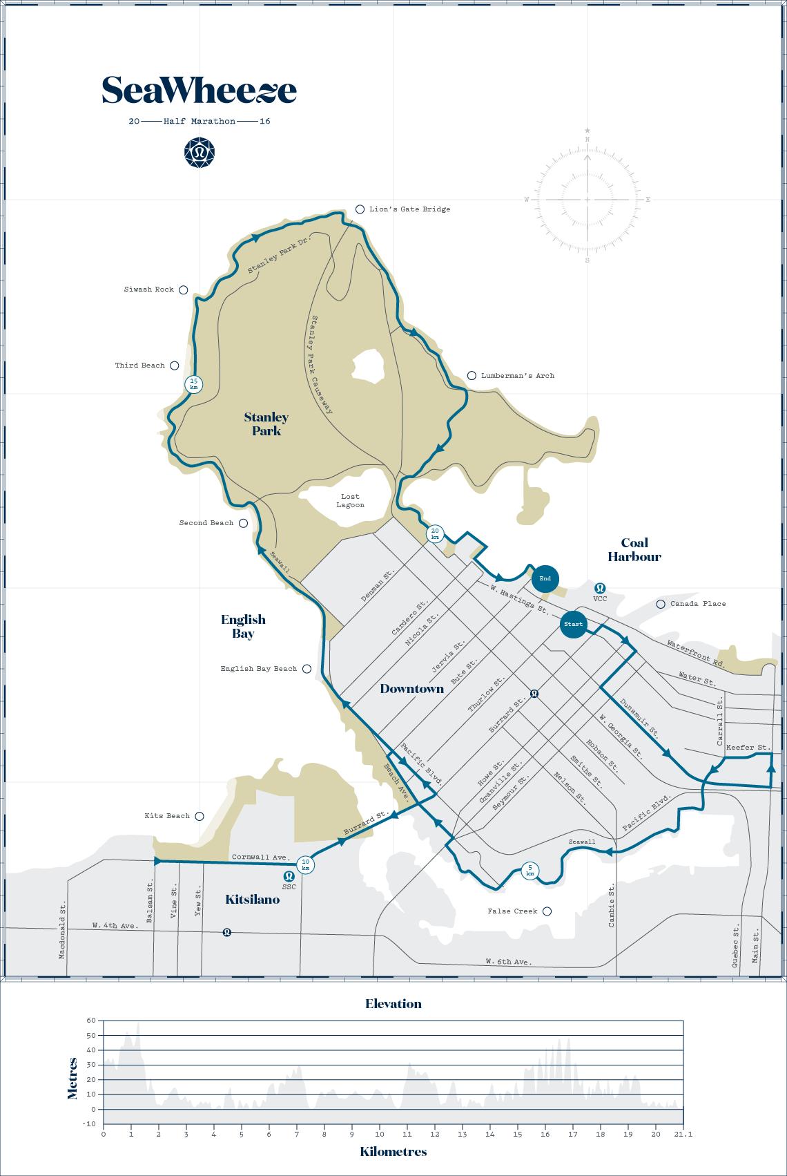 The SeaWheeze 2016 Half Marathon Route (SeaWheeze)