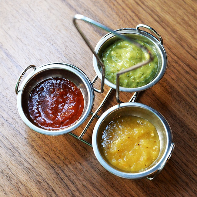 Sauces (Jess Fleming/Daily Hive)