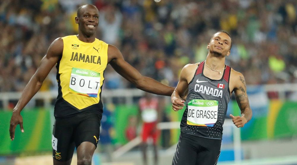 Andre De Grasse injures hamstring, won't dethrone Usain Bolt in final race