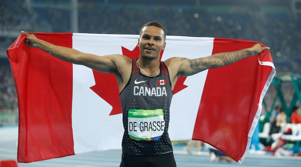 Canada's Andre De Grasse wins bronze at Olympic 100 m final