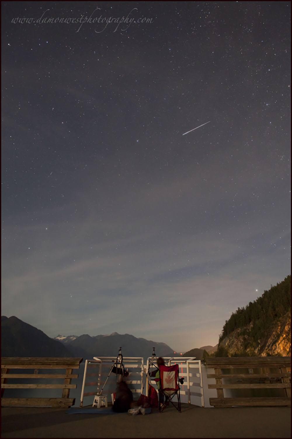 Perseid meteor shower from Porteau Cove (Damon West/Flickr)