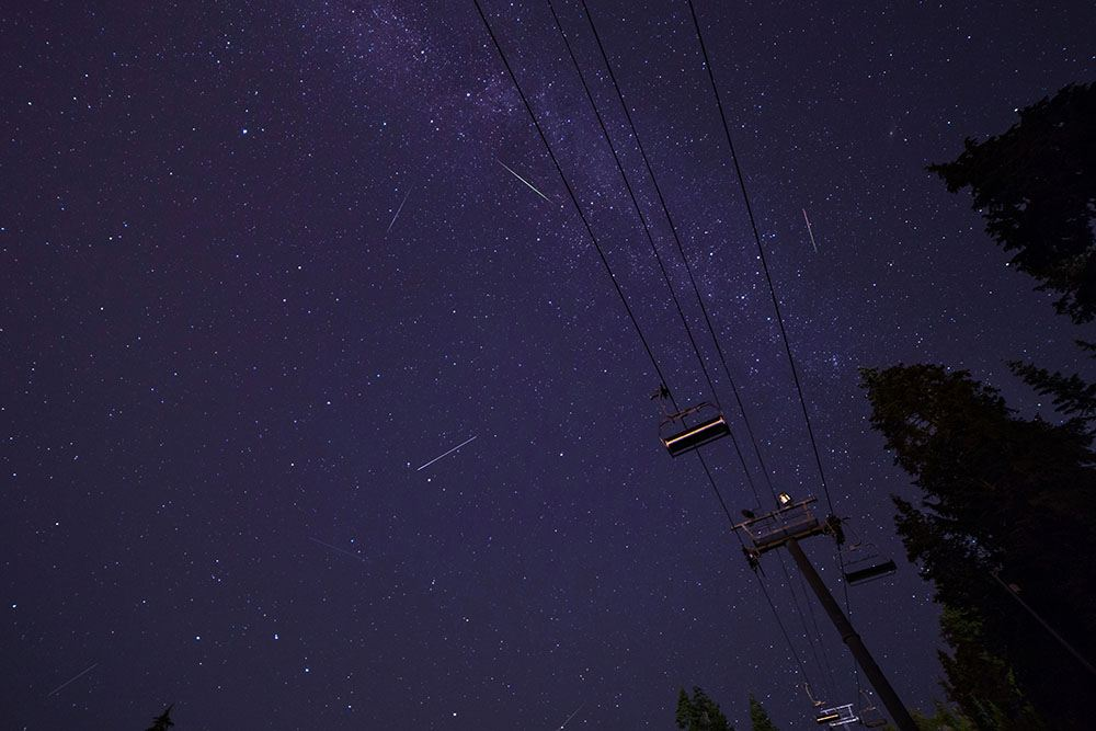 Perseids over Mt. Seymour (Craig Sheppard/Flickr)