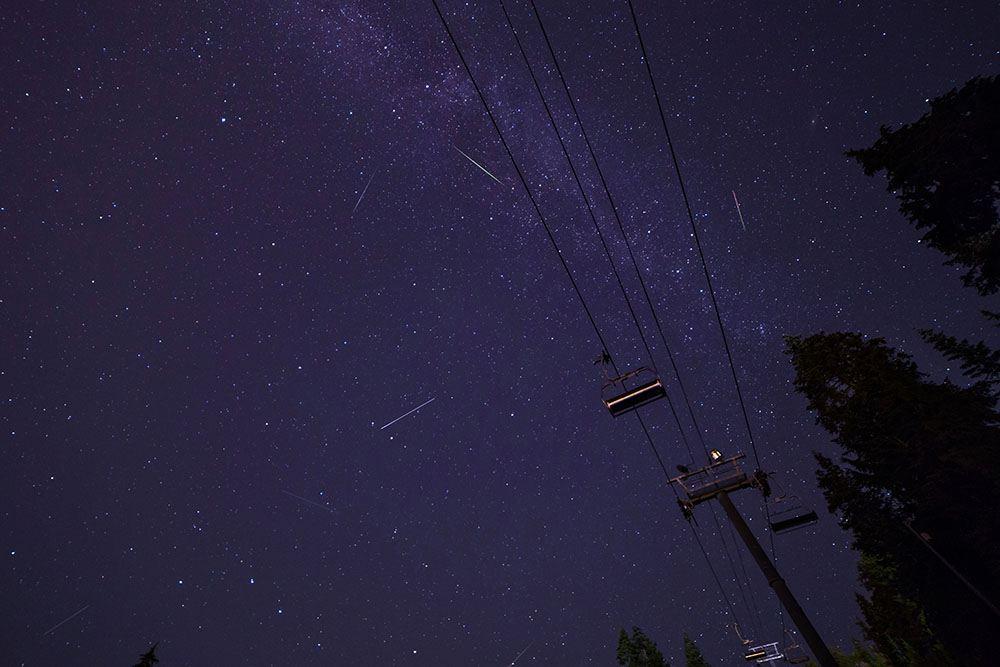 Perseids over Mt. Seymour (Craig Sheppard/Flickr)