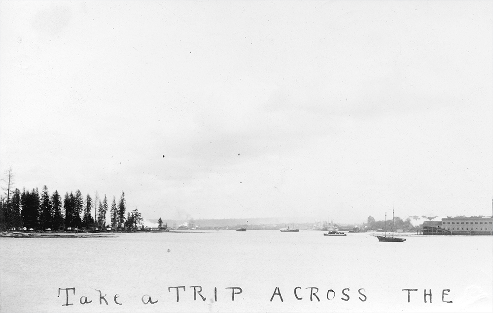 1920: A very quiet looking Coal Harbour in 1920. (Vancouver Archives)