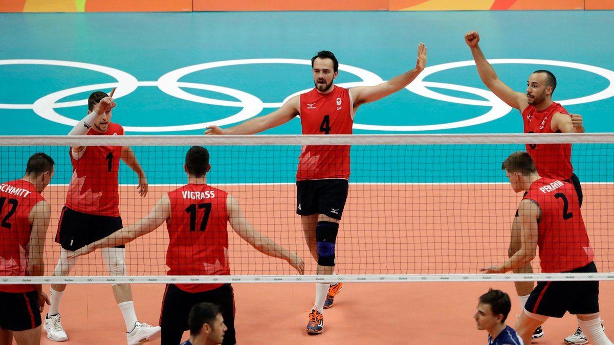 Canada mens volleyball win vs italy