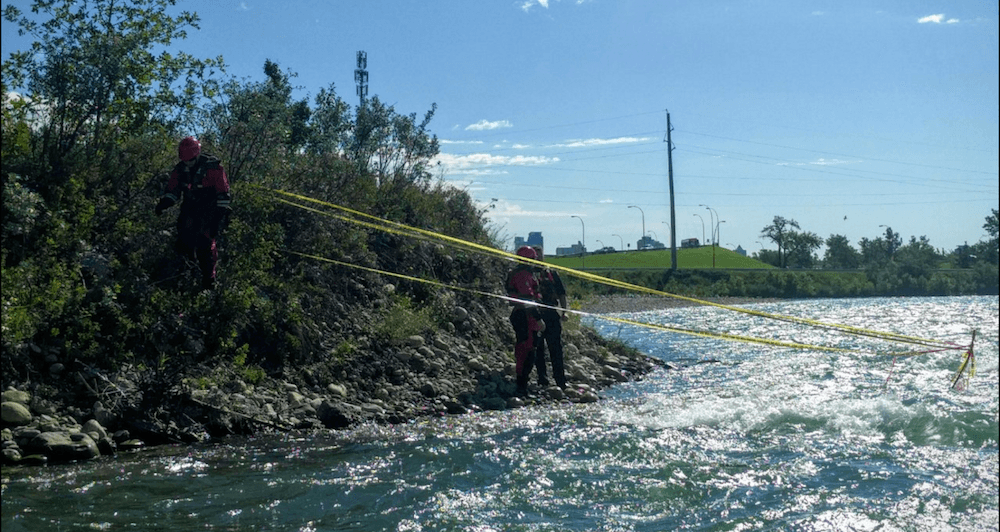 Bow River lowered to help remove obstructing rebar hazard