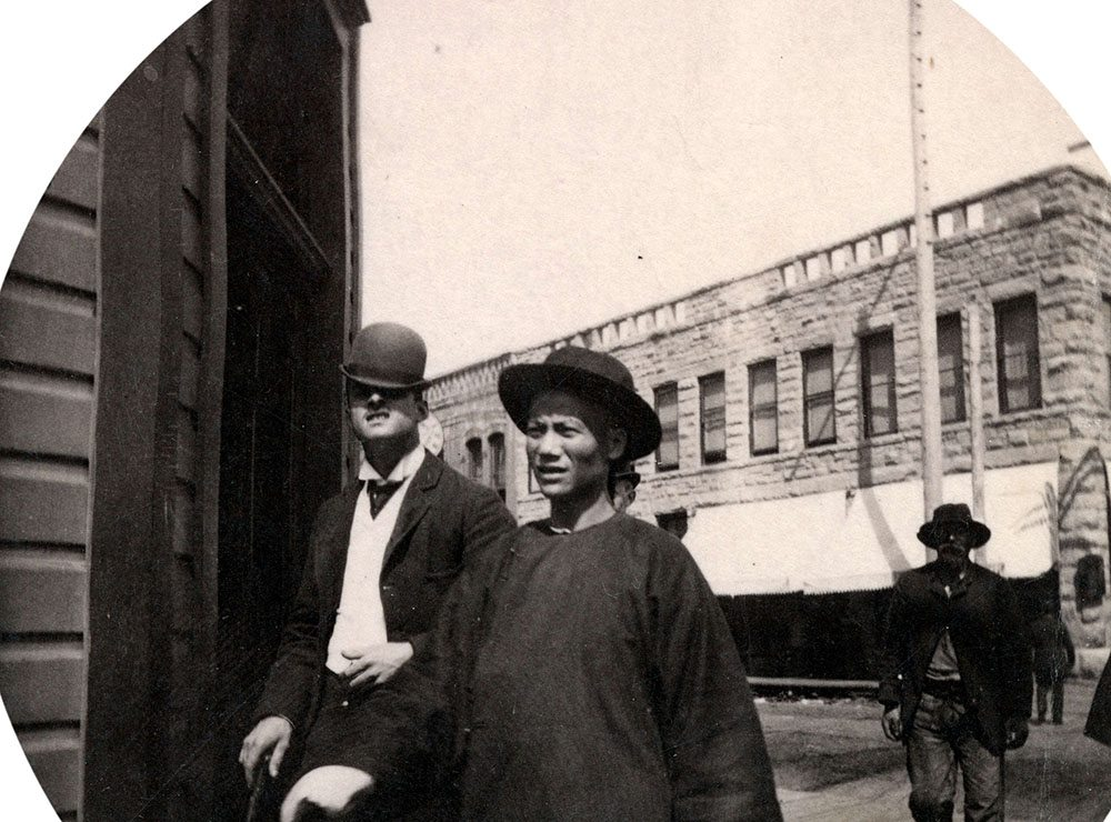 1890: The man on the left almost looks like a character from the Clockwork Orange... (Vancouver Archives)