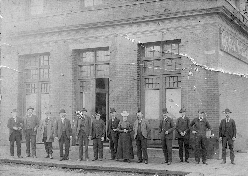 1898: This is Vancouver's oldest brick building, the Oppenheimer Warehouse. (Vancouver Archives)
