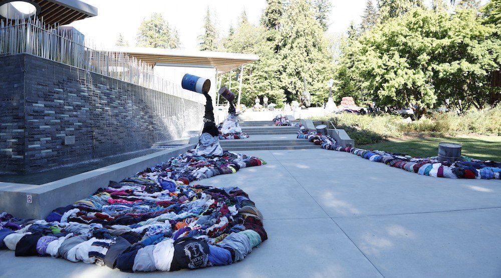 Vancouver Aquarium art installation takes aim at clothing waste (PHOTOS)