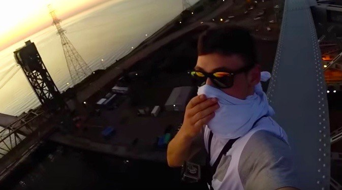 Some idiot posted a video of himself walking across the top of the Burlington Skyway