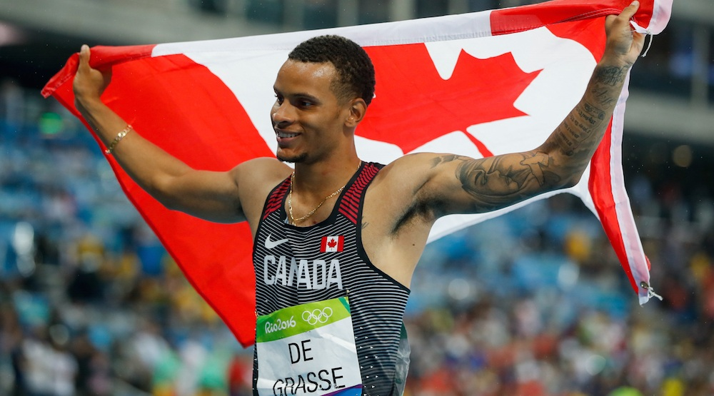 Andre De Grasse wins silver for Canada in 200 m final