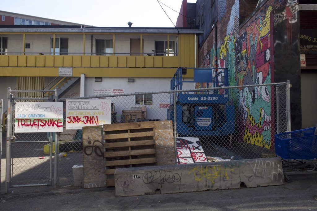 Behind Antisocial Skate Shop / Daily Hive