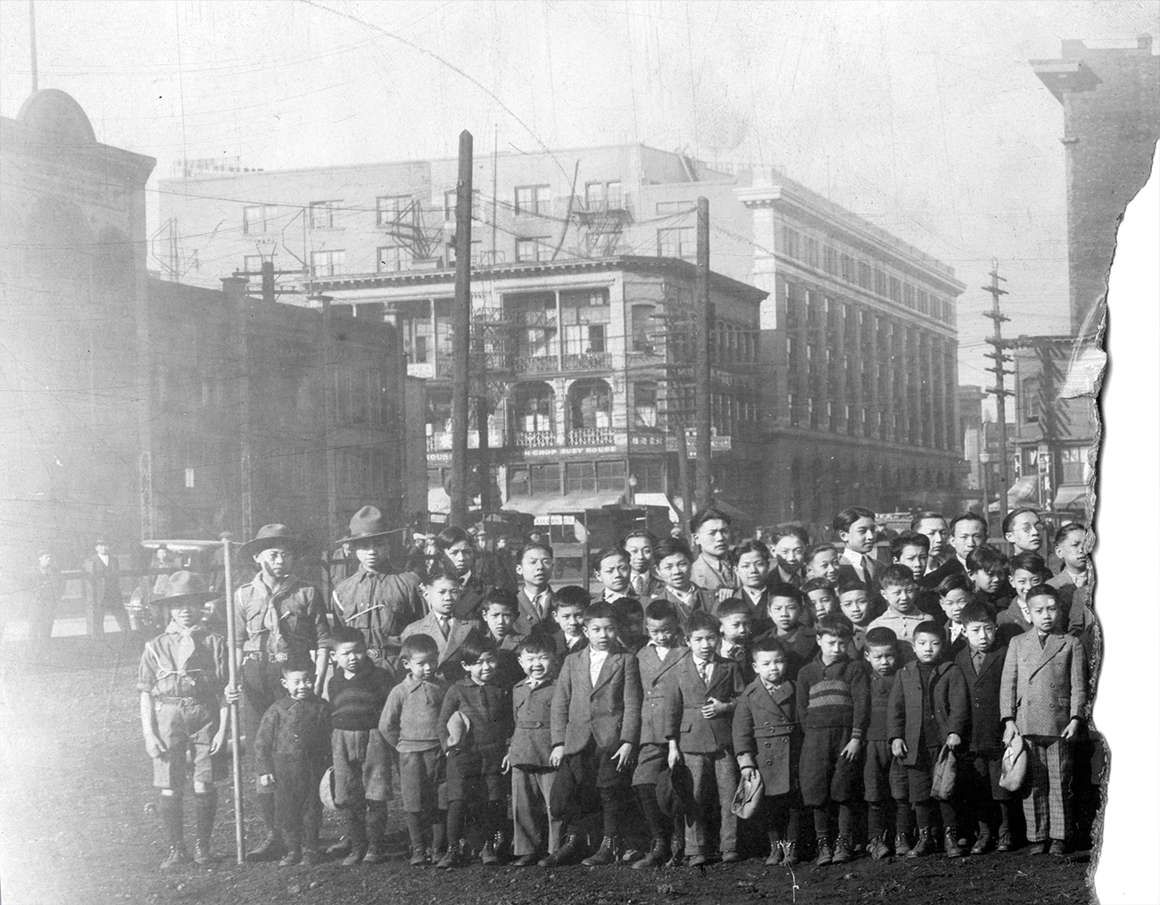 1920: A class of Chinese boys is posing for a photo. (Vancouver Archives)