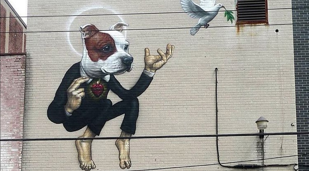 This Montreal mural is addressing the city's pitbull ban
