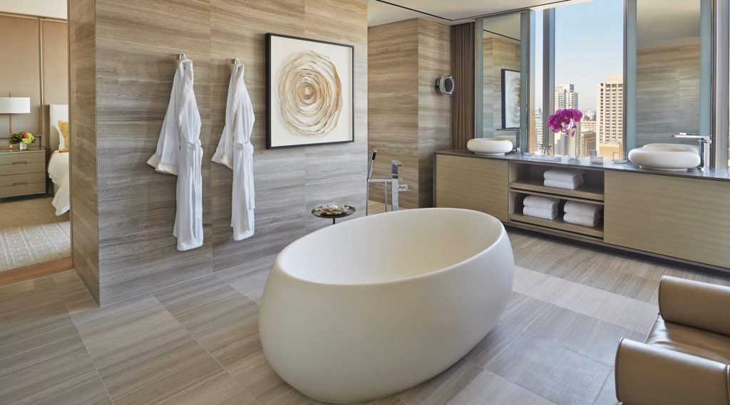 10 hotel bathrooms around the world that are bigger than your