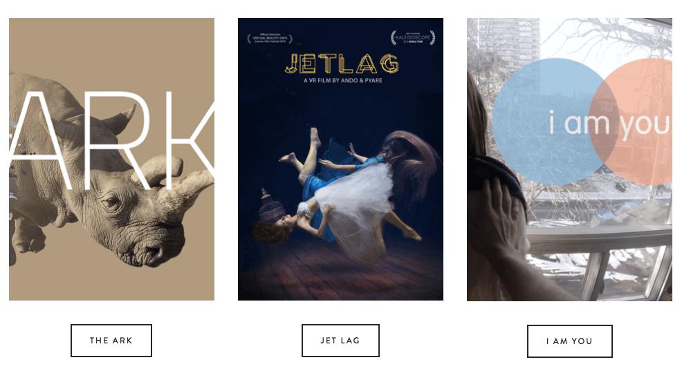 Toronto virtual reality films The Ark, Jet Lag, I Am You