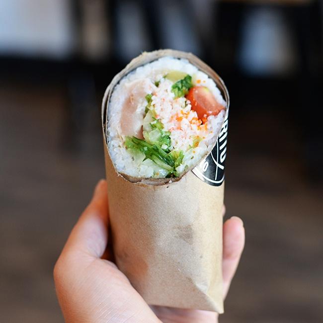 Sushi Burrito at Pokérrito (Jess Fleming/Daily Hive)