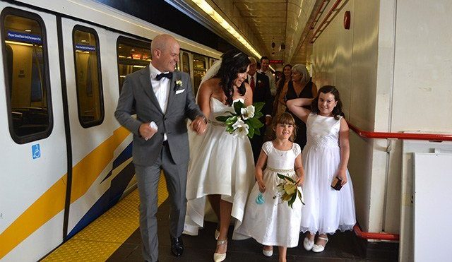 A public (transit) affair: couple who met on Canada Line get hitched in SkyTrain car