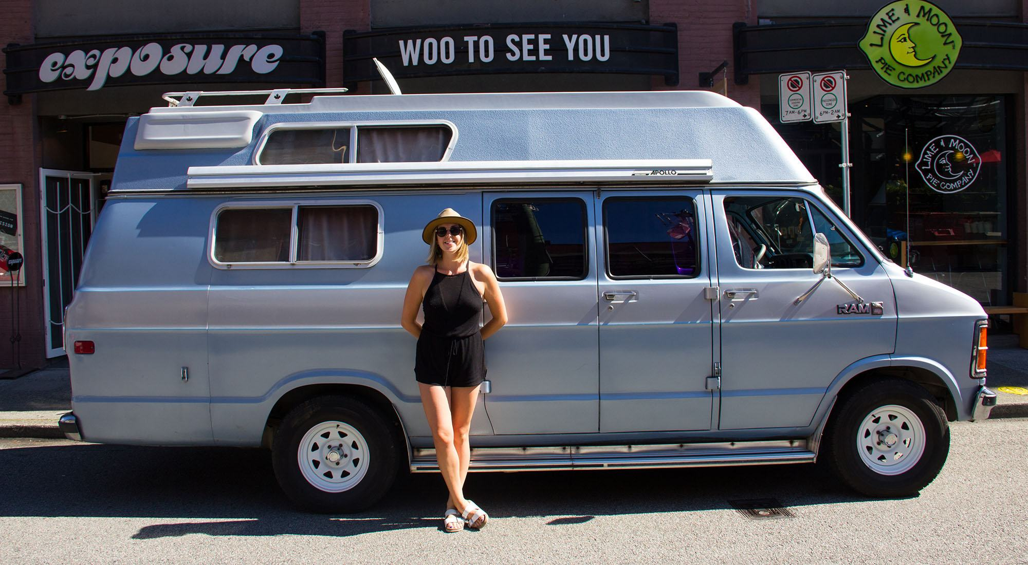 Emily chambers and her van in yaletown