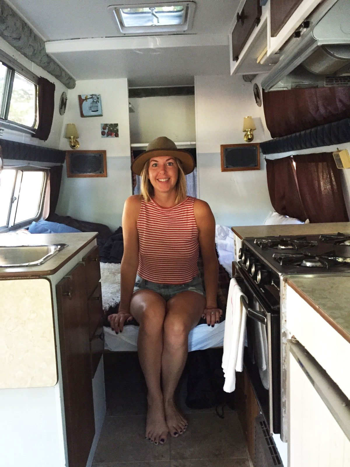 Emily Chambers inside the van she calls home (Emily Chambers)