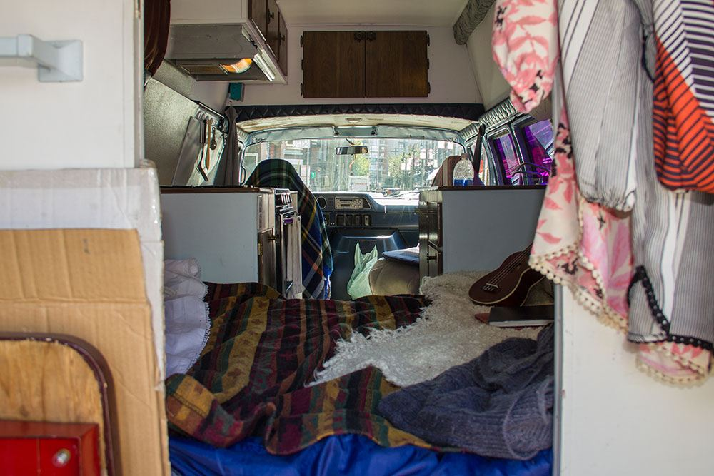 The view from the back of Emily Chambers' van (Jenni Sheppard/Daily Hive)