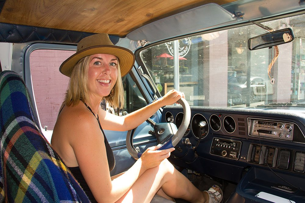 Emily Chambers says she loves living in the van (Jenni Sheppard/Daily Hive)