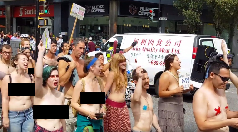 Go topless day vancouver 2016 parade 2