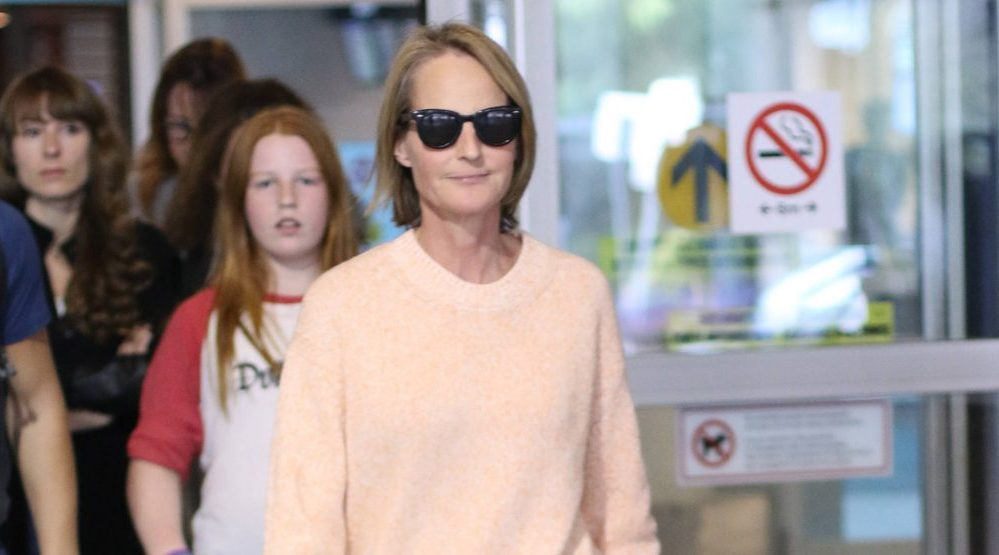 Helen Hunt arriving at Vancouver International Airport in August (Lindsay B)