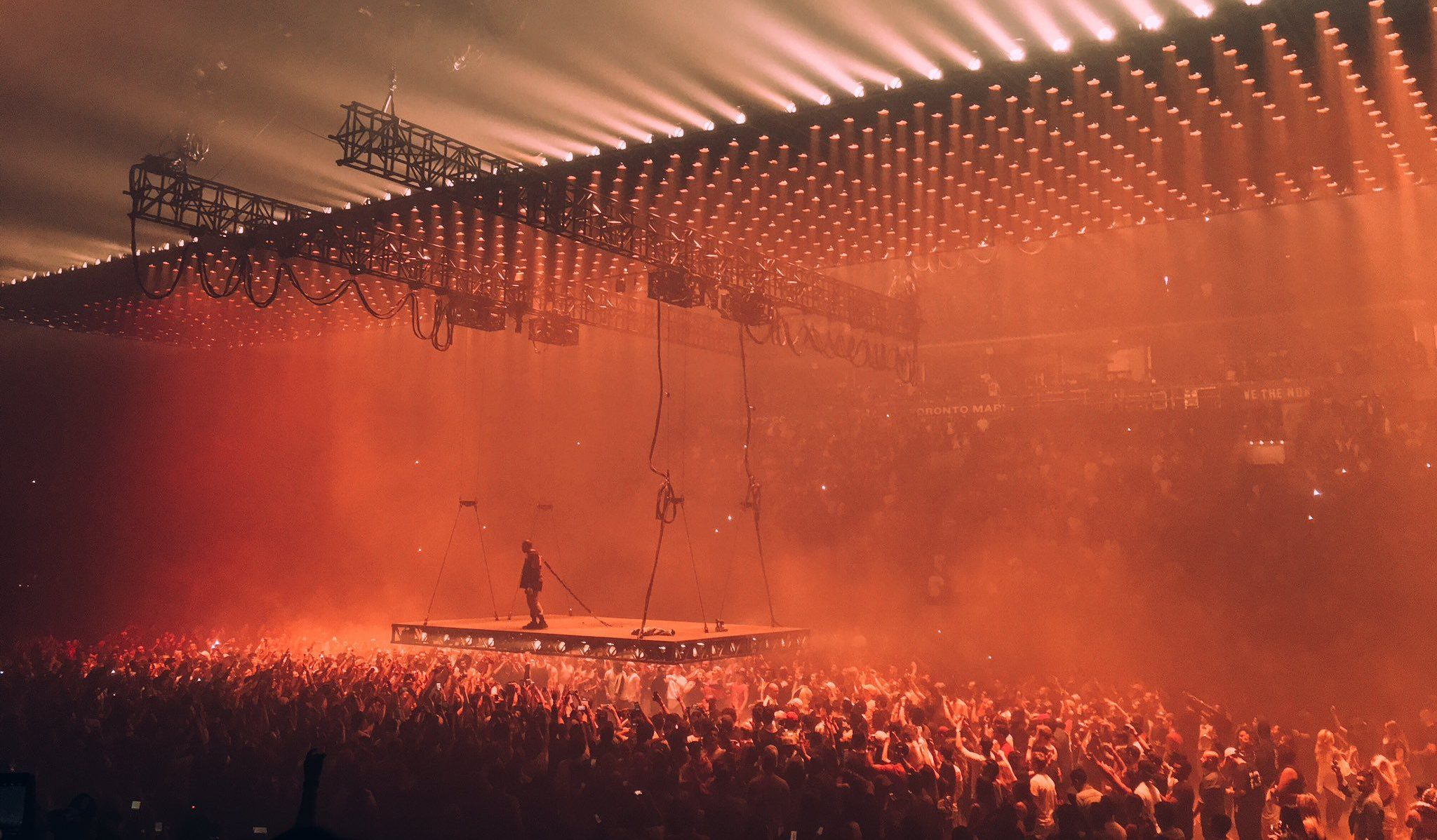 See Kanye West perform in Toronto in front of Kim Kardashian and Travis Scott (PHOTOS)
