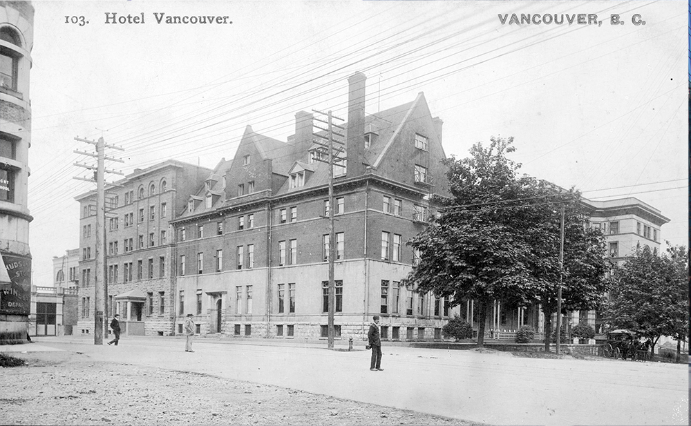 1904: The first Hotel Vancouver built by the CPR. (Vancouver Archives)