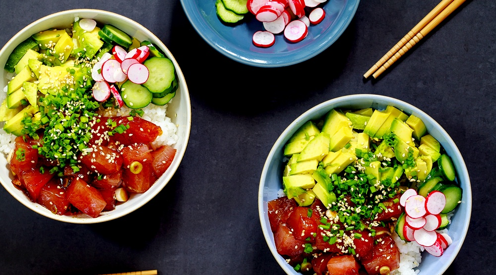 Traditional hawaiian poke