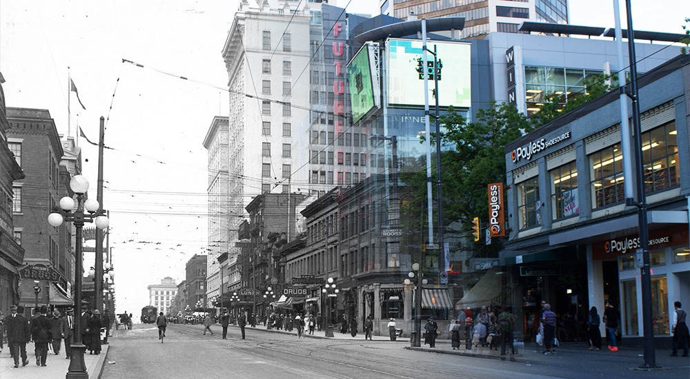 Vancouver Then and Now: Granville Street (PHOTOS)