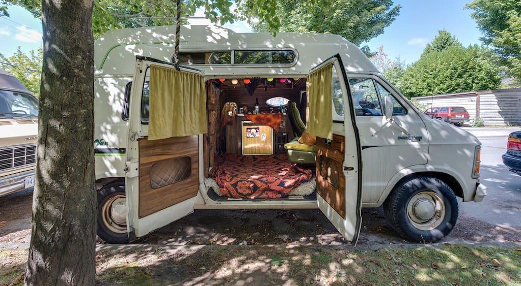 Moonbeam the van you can stay in on airbnb lunaairbnb