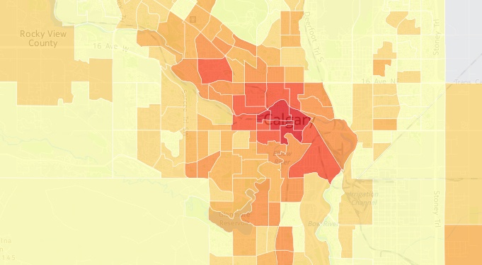 Heat maps of Calgary commute reveal real travel habits (POLL)