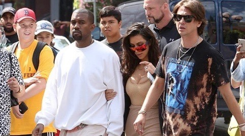 Kim kardashian and kanye west toronto